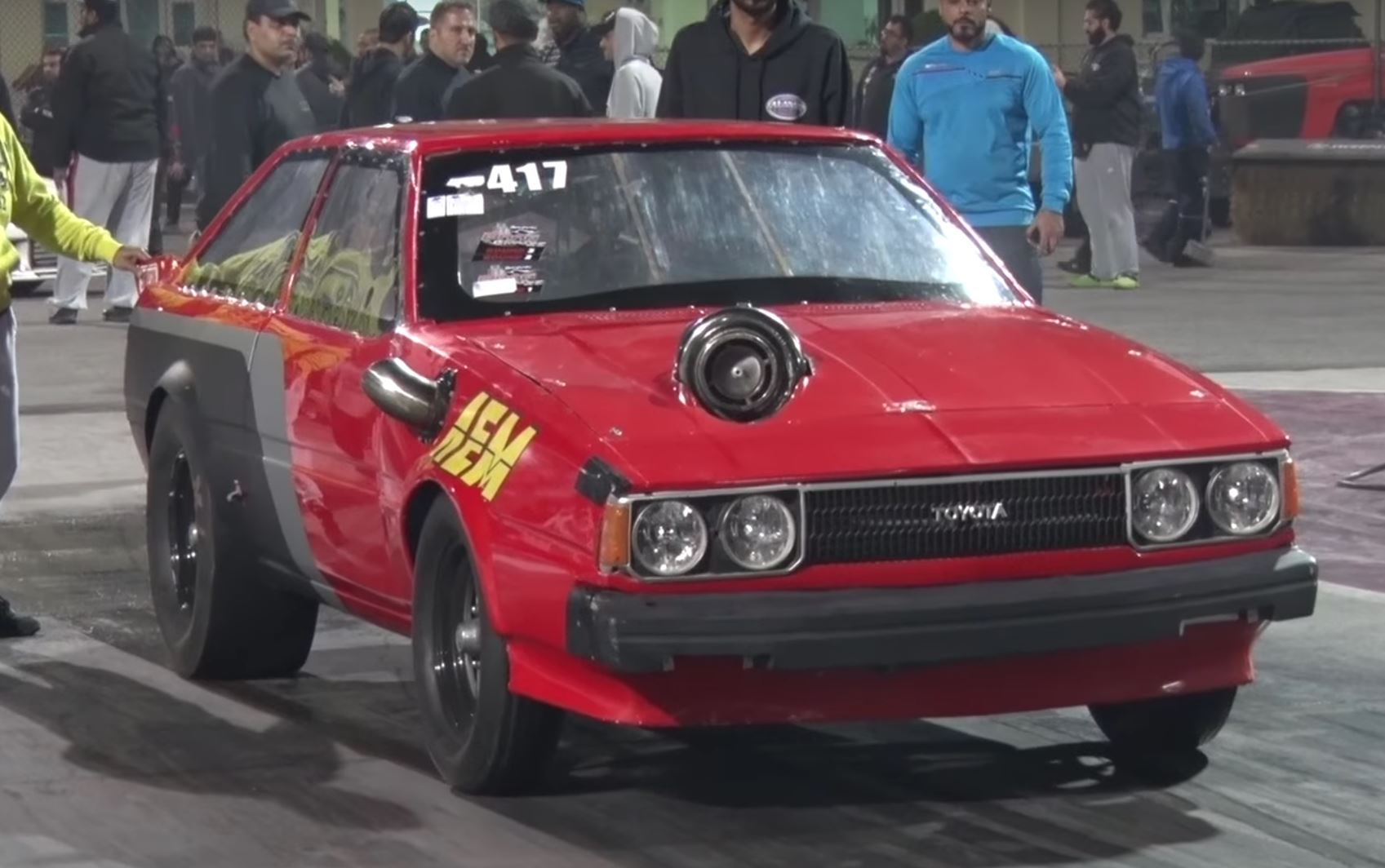 Take a Look At This Mammoth Turbo On a 2JZ Corolla! - Garage Dreams